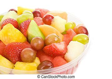 Bowl of Fruit Salad - Bowl of delicious, healthy fruit salad...