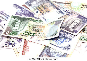 British Pound Notes issued by Scottish Bank