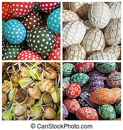 easter eggs collage