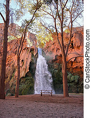 Havasu Falls - View of Havasu Falls in Havasupai Indian...