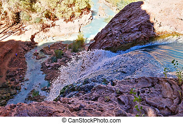 Mouth of Havasu Falls in Havasupai Indian Reservation -...