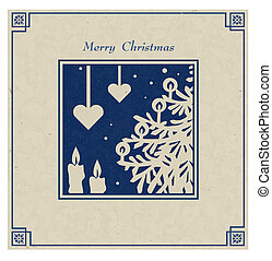 Christmas decorations - Stylized vector image of a vintage...
