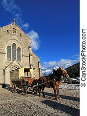 Notre-Dame de l'Assomption church, Grand-Bornand, France