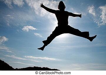 salto, cielo