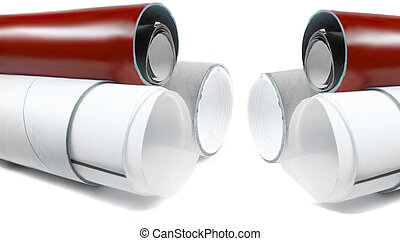 paper tubes - cardboard tubes for shipping business...