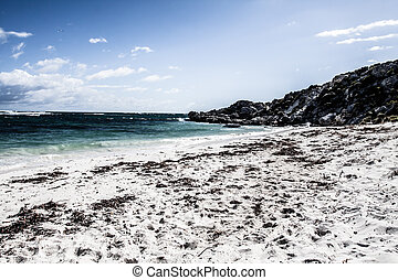 Scenic view over one of the beaches of Rottnest island ( HDR...