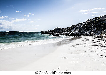 Scenic view over one of the beaches of Rottnest island HDR...