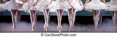 legs of ballerinas - ballerinas perform on stage