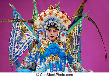 Chinese opera actress with traditional costume