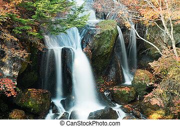 Ryuzu Falls - Landscape of Ryuzu falls in autumn