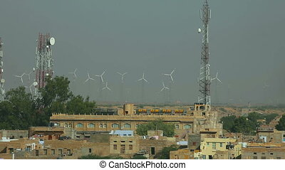 Wind power plant. - Wind power plant in Rajasthan, India.