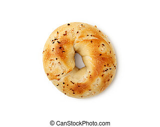 Bagel - Onion Bagel on white background