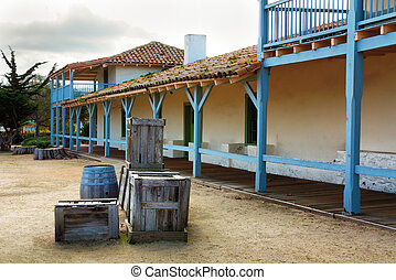 The Monterey Bay Customs House is the oldest built structure...