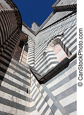 Cathedral in Orvieto, Italy - Cathedral detail in Orvieto,...