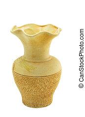 beige ceramic vase