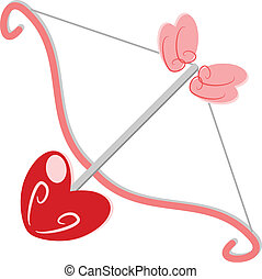 Heart arrow vector - Heart arrow love concept vector...