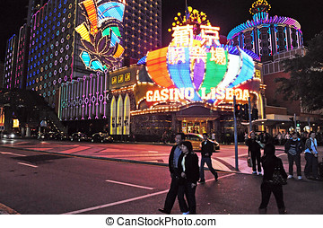The Gaming Industry of Macao - MACAU - FEB 20:Visitors...