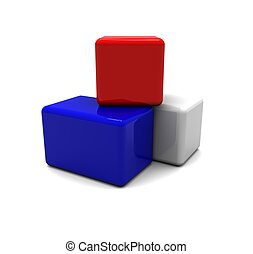 Red, White, Blue Blocks