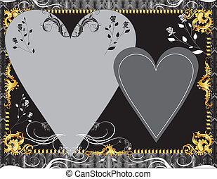 Black Gold Template - Vector Illustration A template...