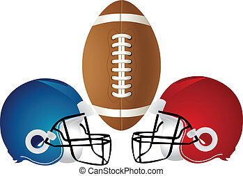 Football Helmet Design - Vector Illustration of a football...