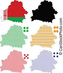 Belarus - Vector illustration pixel map of Belarus.