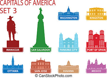 Capitals of America. Set 3. For you design
