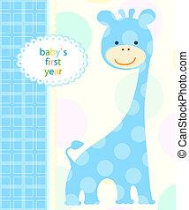 baby boy card - blue baby boy card
