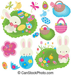 easter set - happy easter set