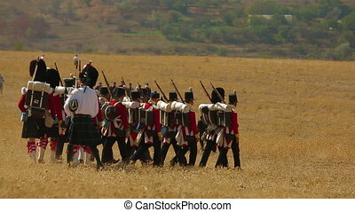 Kilties at a battle