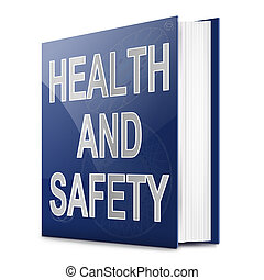 Health and safety text book. - Illustration depicting a text...