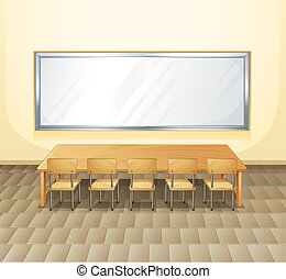 An empty meeting room - Illustration of an empty meeting...