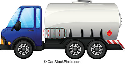 A fuel car - Illustration of a fuel car on a white...