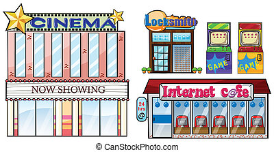 Set of shops - Illustration of a set of shops