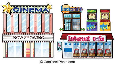 Set of shops - Illustration of a set of shops