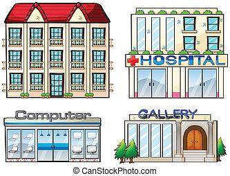 Shops set - Illustration of a set of shops