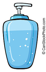 A liquid soap container - Illustration of a liquid soap...