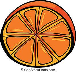 A sliced orange - Illustration of a sliced orange on a white...