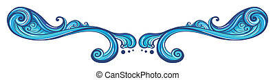 A blue border - Illustration of a blue border on a white...