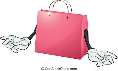 A pink gift bag