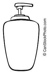 A liquid container