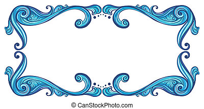 A bold border - Illustration of a bold border on a white...