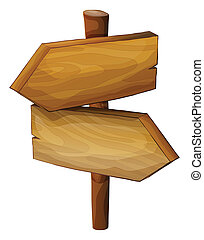 A wooden direction board - Illustration of a wooden...