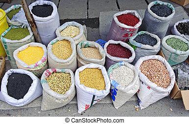 Bohnen, Markt
