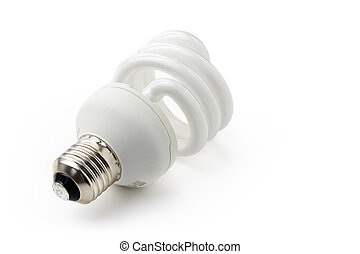 close up of a low-energy light bulb