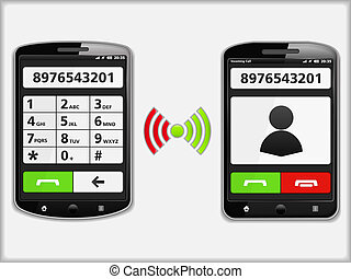 Mobile Phones - Two modern mobile phones, vector eps10...
