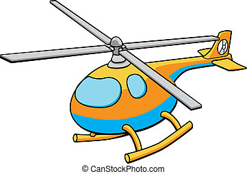Toy Helicopter Illustration - An illustration of an orange...