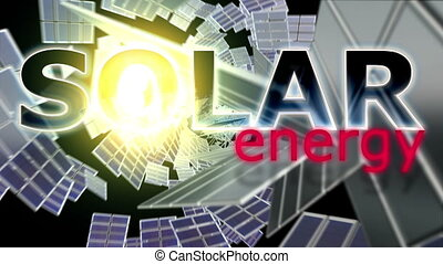 Solar Energy - Animation on renewable energy - Solar Energy