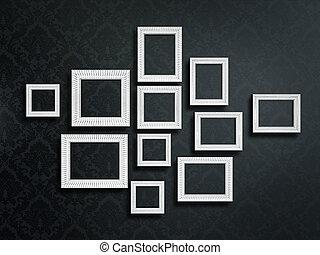 frames - vintage frames isolated on a black background