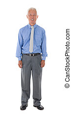 asian senior business man , isolated on white full body