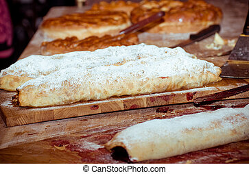 Tasty strudel with the delicious filling